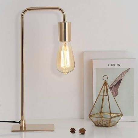 Leanne Ford S New Lighting For Target Is On Point Industrial Table Lamp Gold Desk Lamps Industrial Bedside Lamps