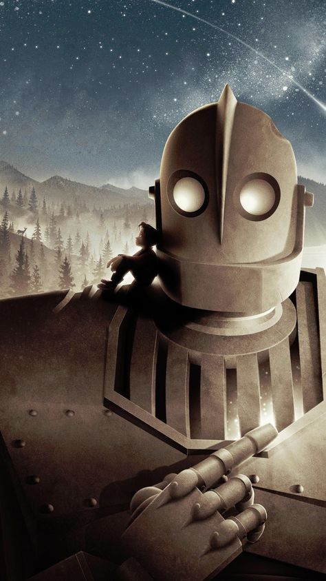 Movie Art Silk Canvas Poster 12x18 24x36 inch THE IRON GIANT