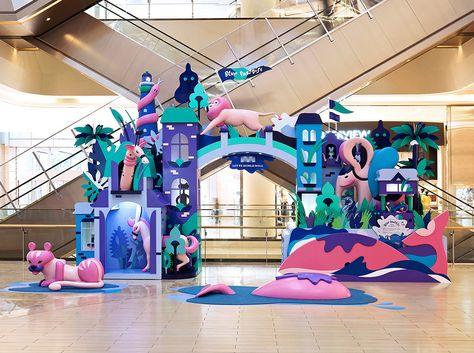 Lotte World Mall_season VM Lets play, Blue Paradise on Behance