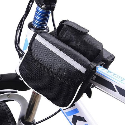 Bicycle Cycling Bag Front Tube Phone Waterproof Bags Triangle Pouch Frame Holder