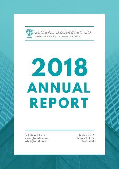 Turquoise Modern Annual Report Nonprofit Annual Report Annual