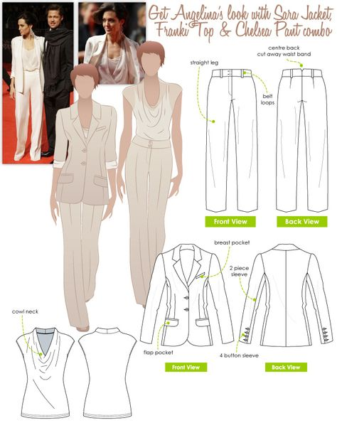 Angelina's Look 2 - Sara Jacket, Franki Top, Chelsea Pant