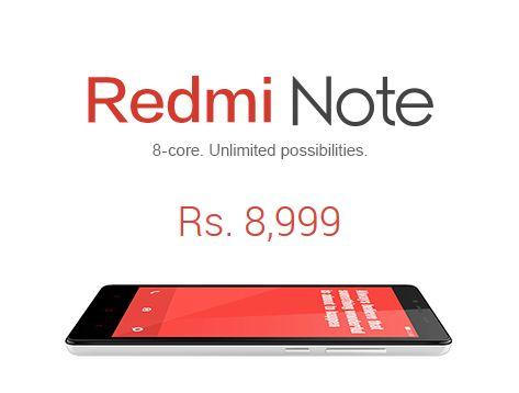 #Xiaomi finally unveiles the #Redmi Note phablet in #India. http://goo.gl/CqFPoU