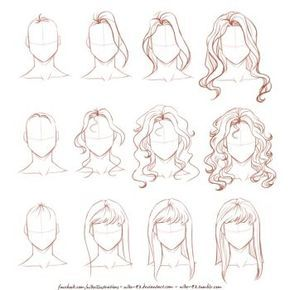 Deviantart More Collections Like Easy Anime Hair Tutorial By Ryky Dessin Coiffure Cheveux Dessin Dessin De Cheveux