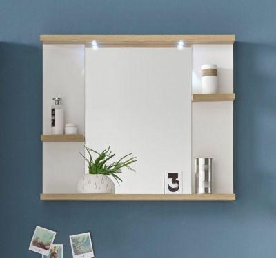 Miroir salle de bain avec 3 tablettes et LED PALAOS ...