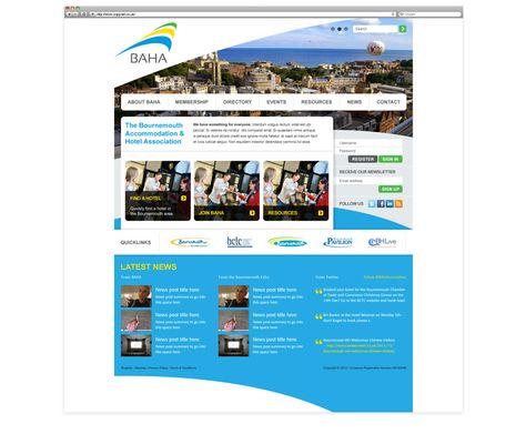 Bournemouth Accommodation And Hotel Association Web Design By Cuco Creative Web Design Digital Web Baha
