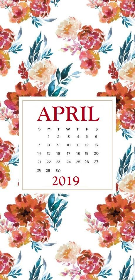 Cute April 2020 Calendar Floral Wallpaper Calendar Wallpaper