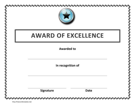 award excellence certificate template free microsoft word employee - award certificates word