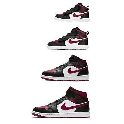 Jordan 1 Mid Bred Toe Gs 554725 066 In 2020