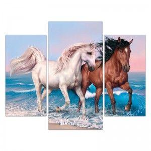 Cg2149 تابلوه مودرن مجموعة ثلاث قطع تابلوهات مودرن تابلوهات براويز مودرن صور براويز تابلوهات خشب تابلوهات مودرن 2018 لوحات Canvas Prints Horses Canvas
