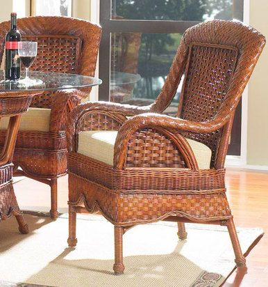 South Sea Rattan Autumn Morning Indoor Wicker Dining Arm Chair In 2020 Rattan Furniture Living Room Wicker Furniture Indoor Rattan Furniture