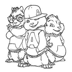 20 best Alvin & The Cipmunks images on Pinterest | Coloring pages ...