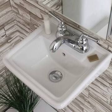 Ceramic 12 Wall Mount Bathroom Sink With Overflow Https Www Wayfair Com Home Imp Bathroom Sink Wall Mounted Bathroom Sinks