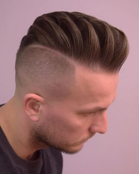 Textured Comb Over with Undercut - Gallant Hairstyles for Men with Receding Hairlines