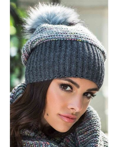 metallic threads. Knit hat stitch fancy black