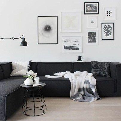 47 Dark Living Room Design For Home Decor Rengusuk Com Black Sofa Living Room Modern White Living Room Living Room Scandinavian