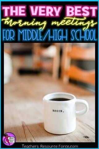 Morning meetings (a. tutor time / form time / advisory period - it has many names!) is an extremely powerful way to start the school day with your students. It sets your students off on the right foot. It gives them a routine that is safe and predict Morning Meeting Activities, Middle School Activities, Morning Meetings, Class Meetings, Middle School Counseling, High School Classroom, High School Students, Middle School Advisory, Classroom Meeting
