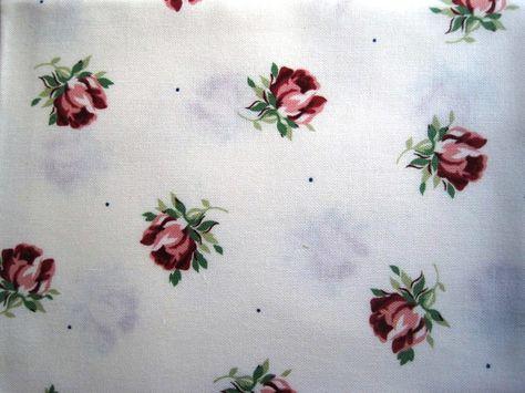 Cottage Rose Buds Fabric Fat Quarter  by PrimroseLaceRibbon, $3.00