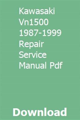 Kawasaki Vn1500 1987 1999 Repair Service Manual Pdf This Or That Questions Model Rocketry Colorado State University