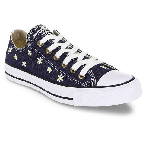 Converse Women s Chuck Taylor All-Star Denim Daisy Low-Top Sneakers ( 70) ❤  liked on Polyvore featuring shoes c5ef9841d