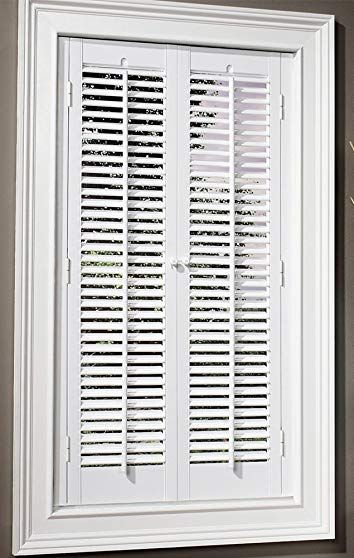 Faux Wood Diy Traditional 1 1 4 Interior Shutter Kits Paint Finish White 23 25 W X Interior Shutters Interior Window Shutters Diy Interior Window Shutters