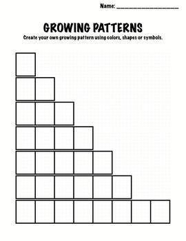 Kindergarten Math Patterns Growing Patterns Growing
