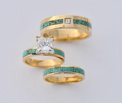 Beautiful Turquoise Wedding Ring Sets Images - Styles & Ideas 2018 ...