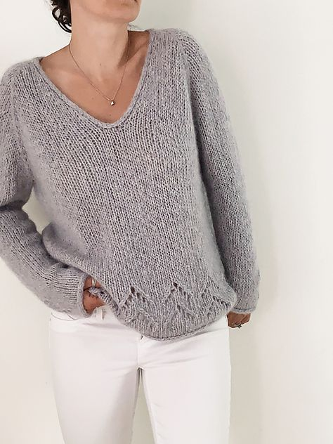 Ravelry: The Evermore Sweater pattern by Sabina Harnage