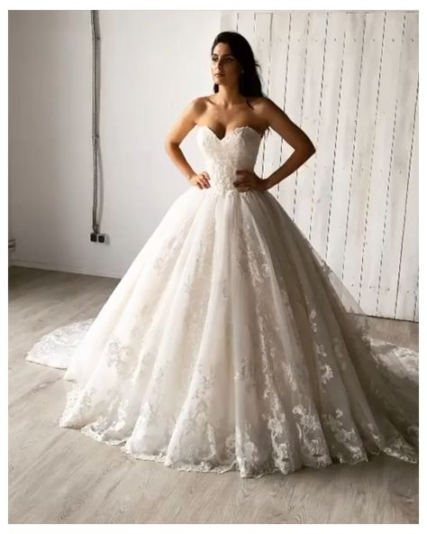 Aryanna Karen Lace Princess Wedding Gown #lace #princess #wedding #dresses #laceprincessweddingdresses