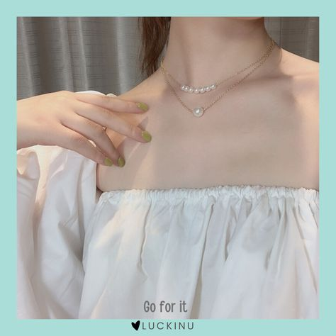 Go for it 2 Layered Pearl Necklace $17.99