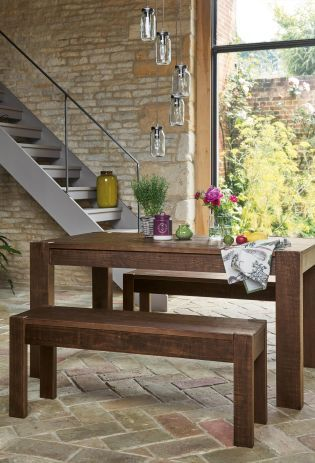 Buy Kendall Dining Table And Bench Set From The Next UK Online Shop