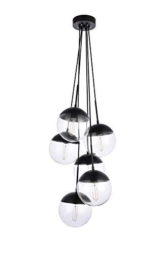 A1a9 Sphere Glass Pendant Lights With 6 Light Modern Industrial