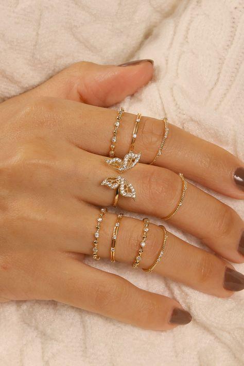 Rue Gembon Dylan Gold Ring Set