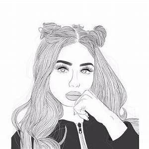 Girl Outline And Draw Image Dessin Noir Et Blanc Dessin De Fille Et Coloriage Fille