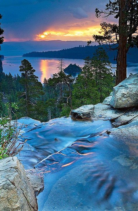 Eagle Falls, Lake Tahoe, California. :) I love living so close to here! See more at http://www.fashionisly.com