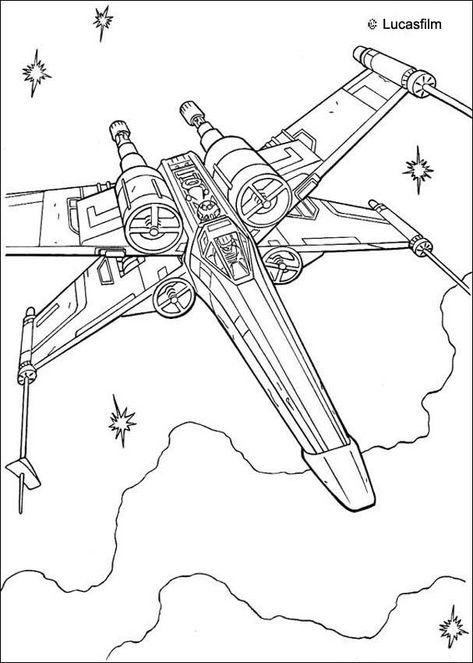 Coloriage De Star Wars Du Vaisseau Spatial De Luke Slywalker X