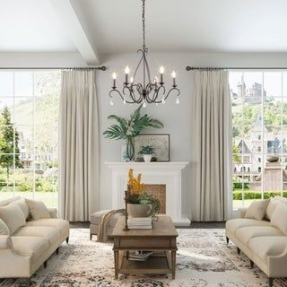 Overstock Com Online Shopping Bedding Furniture Electronics Jewelry Clothing More In 2020 Chandelier In Living Room French Country Living Room Country Living Room