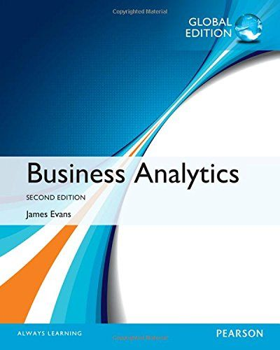 Business Analytics (2nd edition) - James Evans - eTextBook in 2019