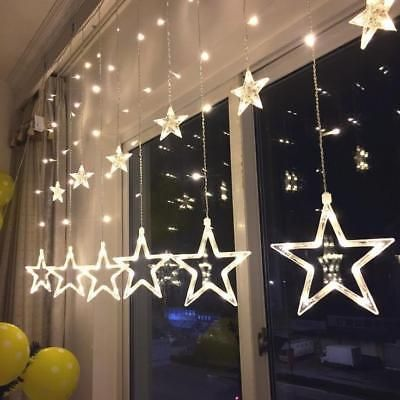 300 LEDs Window Icicle Lights Quntis Christmas Curtain String Lights Warm White Decorative Fairy Lights Backdrop Lighting for Outdoor Indoor Home Bedroom/Garden Wedding Party
