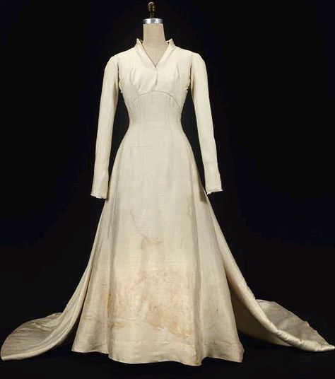 Maria's Wedding Dress from the Sound of Music has been rediscovered!  More pictures here: http://www.edelweisspatterns.com/blog/?p=4194