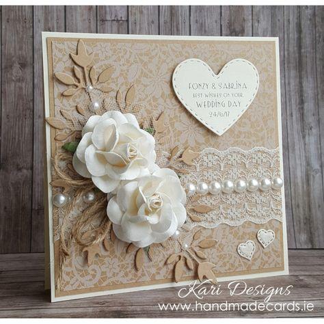 Beautiful Vintage Style Wedding Card - WE009