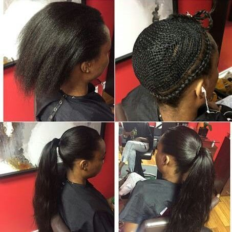 List of Pinterest side part sew in braid pattern body wave pictures ...
