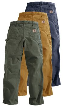 Carhart rugged cargo dungaree type pants for work...