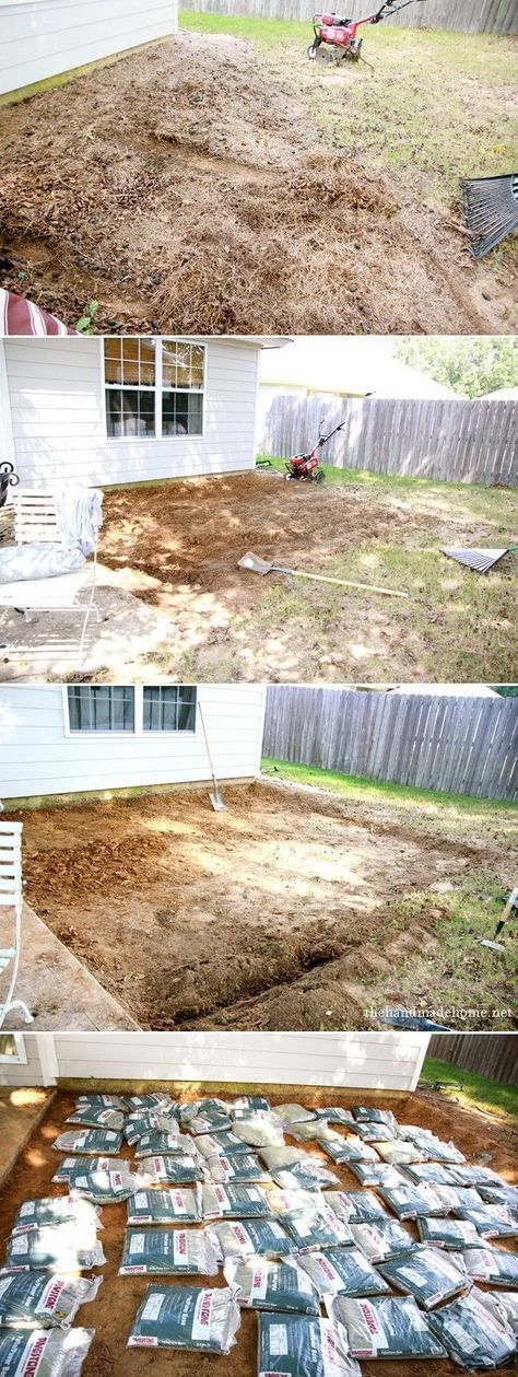 how to install patio pavers and a fire pit - an easy tutorial and supply list