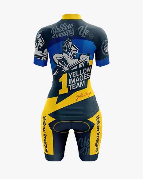 Download Women S Cycling Kit Mockup Back View In Apparel Mockups On Yellow Images Object Mockups Womens Cycling Kit Cycling Women Design Mockup Free