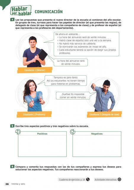 Aprendiendo Estrategias Sociales En La Nueva Lengua Con Espacio Joven 360 B1 2 Pag 36 Actividades Jovenes Grupo De Tres