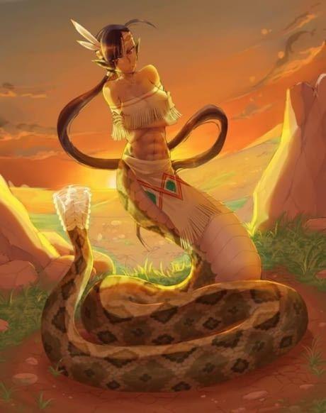 Rattlesnake lamia/ hybrid girls