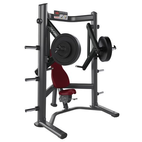 The Life Fitness Signature Series Plate Loaded Decline Chest Press Uses Converging And Iso Lateral Movement For A Nat Fit Life No Equipment Workout At Home Gym