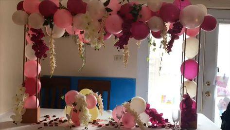 DIY- balloon decor DIY -bridal shower and birthday decor - #balloon #birthday #bridal #decor #Shower - #balloonndecoration