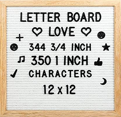 Amazon Com 12 X 12 Felt Letter Board W Oak Frame 300 3 4 350 1 Letters Characters Changeable Letter B Felt Letters Felt Letter Board Letter Board